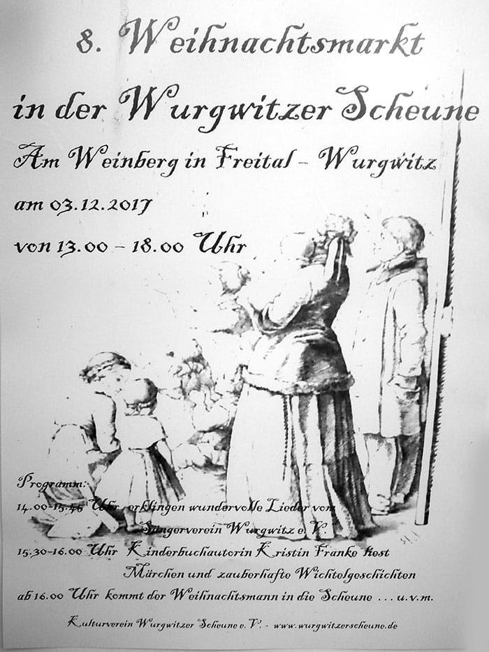 Plakat Weihnachtsmark Wurgwitz