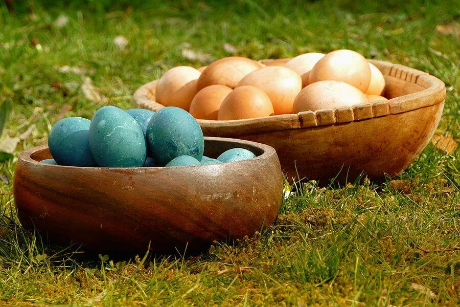 Bunte Eier zu Ostern