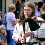 Dudelsack Spieler Festumzug Tharandt