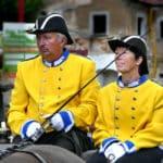 Gelbe Uniformen Festumzug Tharandt
