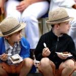 Neugierige Kinder Festumzug Tharandt