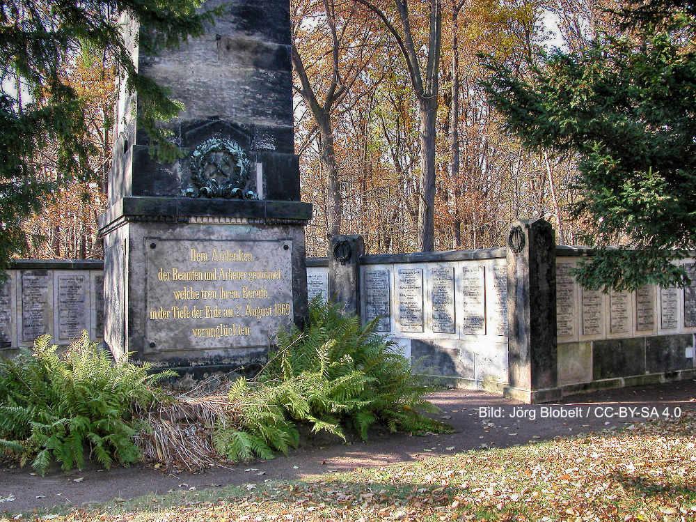 """Gedenkstätte """"Bergmannsgrab"""" am ehem. Segen-Gottes-Schacht in Kleinnaundorf"""