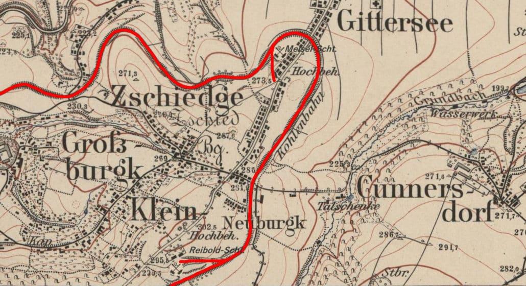 Karte der Schachtanlagen (Äquidistantenkarte, 1904)
