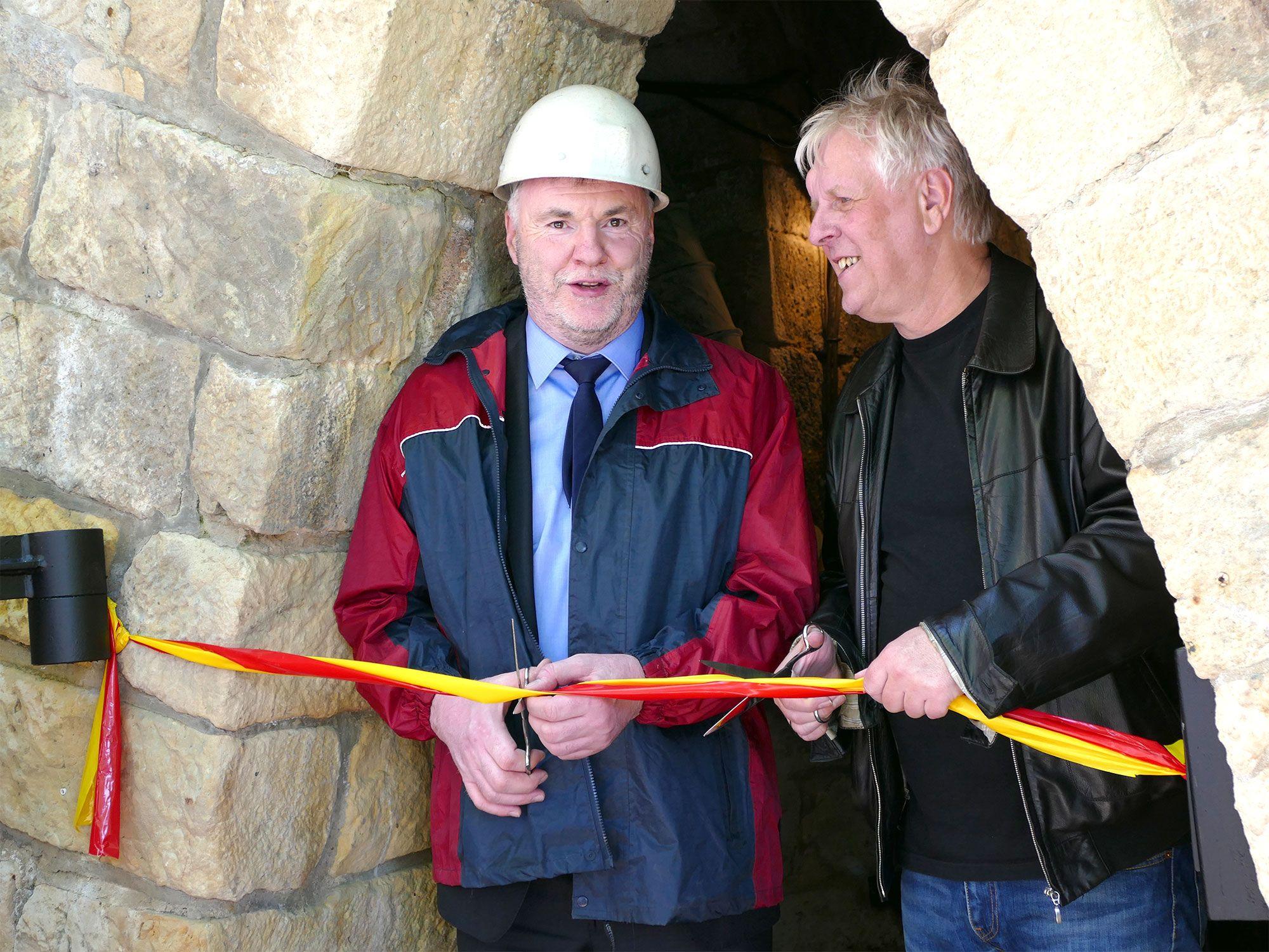 Oberbürgermeister Uwe Rumberg und Museumsdirektor Rolf Günther