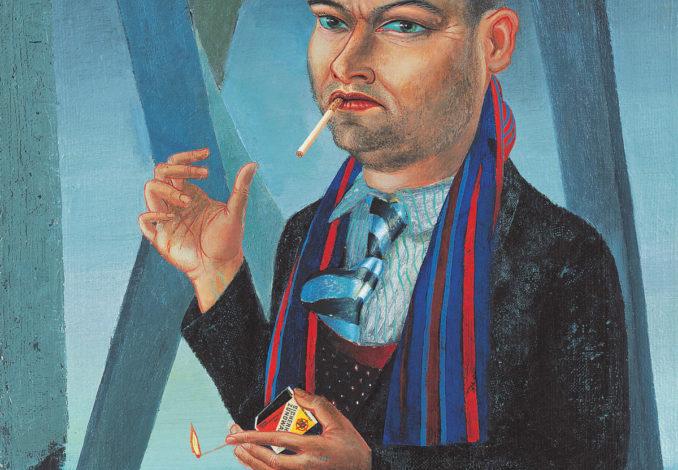 Clemens Gröszer, El Gordo, 1983, 85, Öl, Collage auf Rupfen