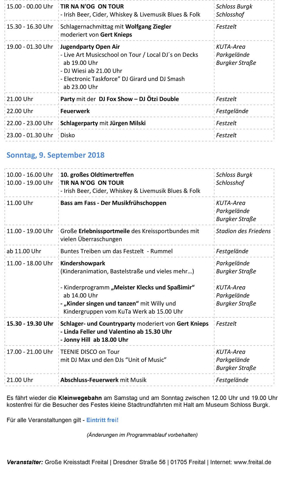 Programm Windbergfest Freital 2018 Blatt 2