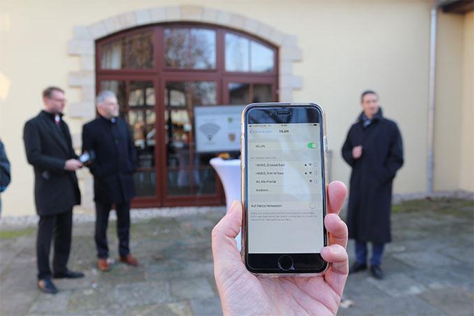 WLAN-Hotspot auf Schloss Burgk