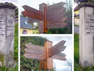 Butterstraße Somsdorf Wanderwegweiser / Bild: Geri-oc / CC0
