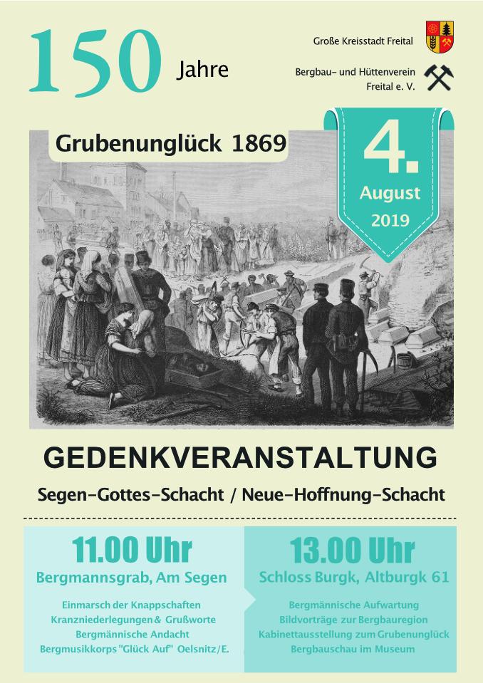 """Gedenkveranstaltung """"150 Jahre Grubenunglück"""""""