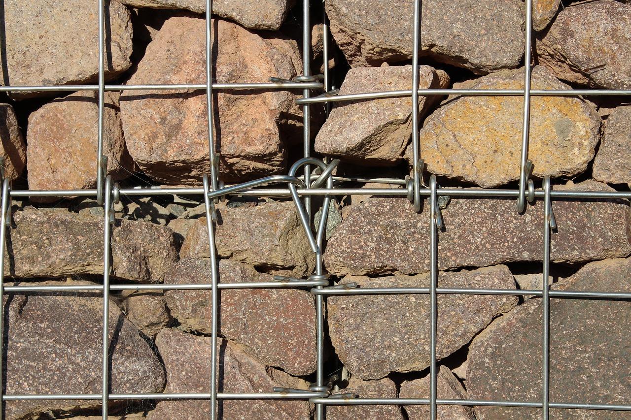 Gabione als Mauer