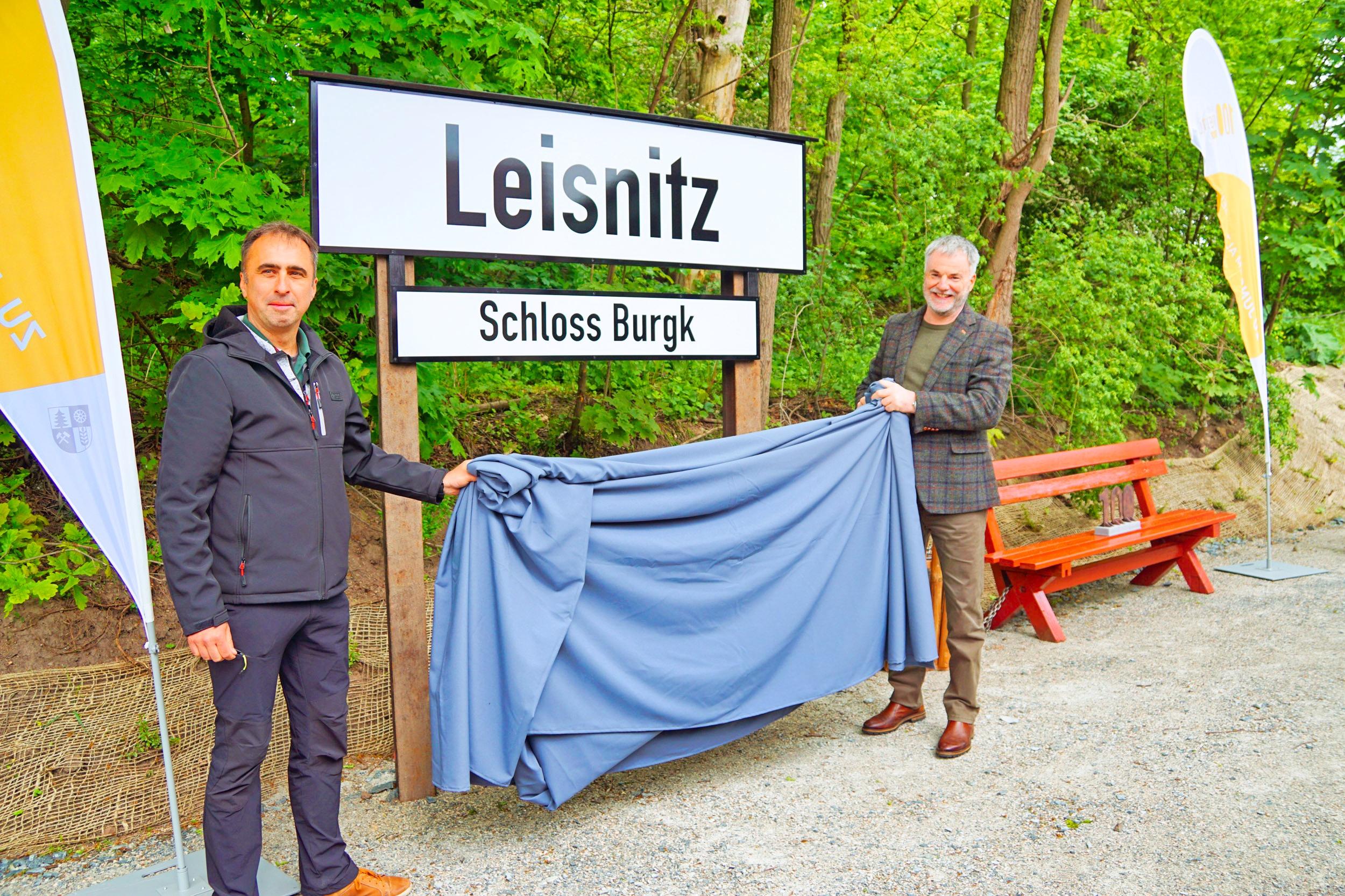 Holger Demnitz und Freitals Oberbürgermeister Uwe Rumberg